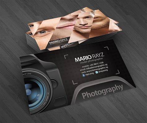 photography card templates professional photographer business cards on behance