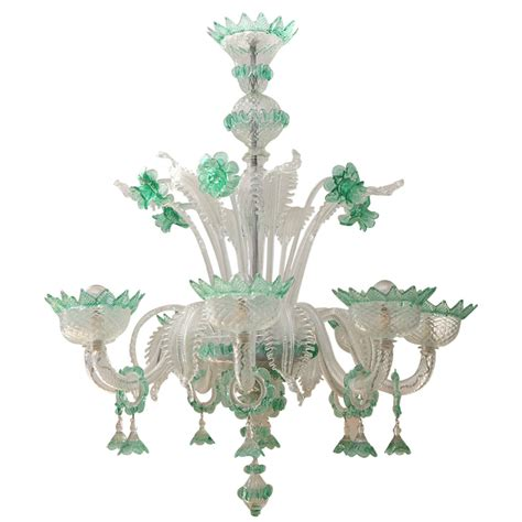 Vintage Glass Chandeliers Antique Murano Glass Chandelier At 1stdibs
