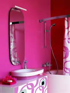 Black And Pink Bathroom Ideas Pink White And Black Bathroom Furniture With Retro Design