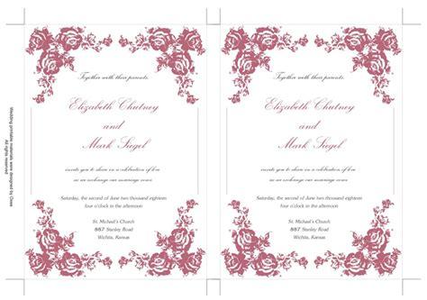 free pink wedding invitation templates free wedding invitation templates yaseen for