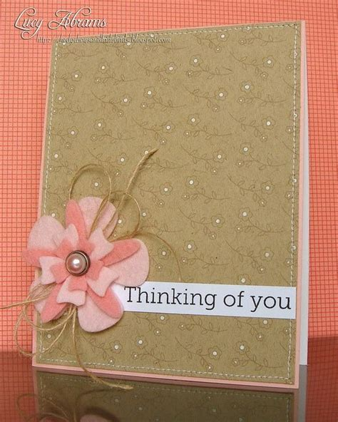 Handmade Thinking Of You Cards - thinking of you card craft ideas