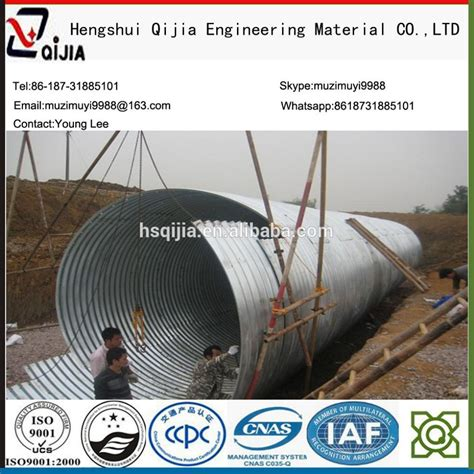 design guidelines for bridge size culverts plastic coated corrugated steel culvert pipe arch culvert