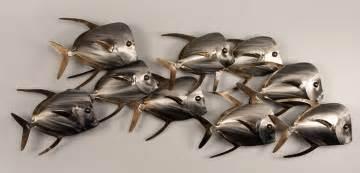 Metal Wall Art For Gardens - lookdown fish of 9
