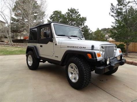 silver jeep rubicon 2 door buy used 2005 jeep wrangler rubicon sport utility 2 door 4