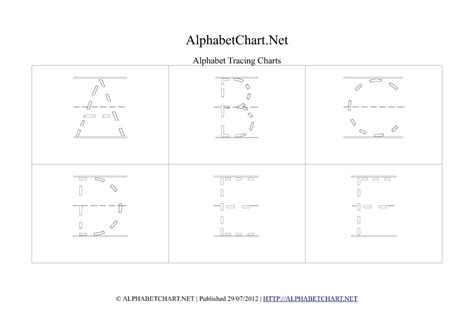printable alphabet tracing chart tracing alphabet charts tag alphabet chart net