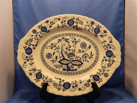 blue heritage pattern dishes vintage enoch wedgwood tunstall blue heritage pattern 14