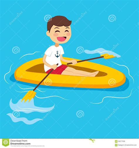cartoon boat rowing row boat clipart little boat pencil and in color row
