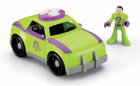 Heroes Vehicle Riddle Green Formula Car fisher price imaginext dc friends the riddler and car buy fisher price toys