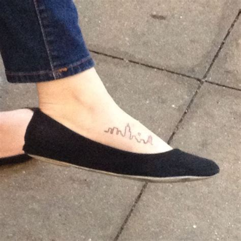 boston skyline tattoo small city skyline foot ink girly permanent