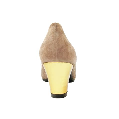 Heels Mocca mocca suede leather gold heel nottingheels