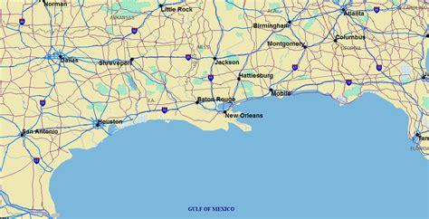 map of gulf coast states gulf coast states map