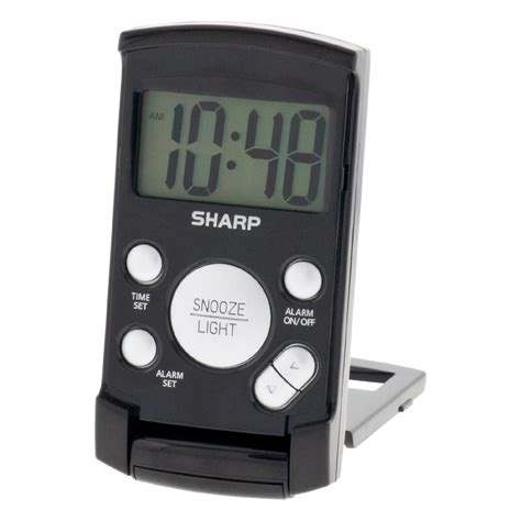 sharp led light alarm clock snooze alarm clock kmart com