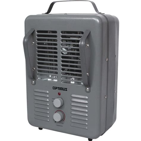 optimus portable utility heater with thermostat walmart