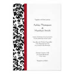 red and black damask wedding invitations 5 quot x 7