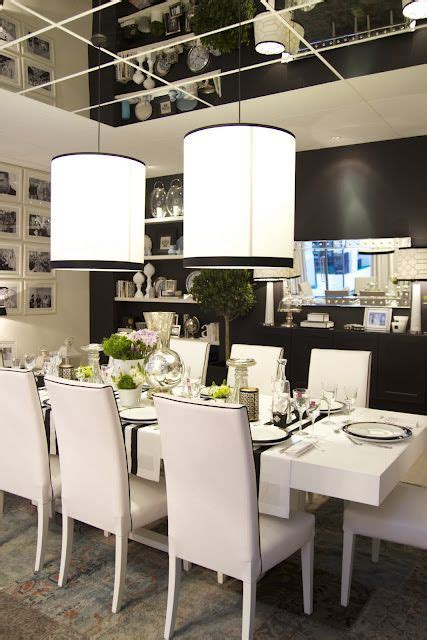 Black Accent Wall In Dining Room Black And White Dining Theme La Salle 224 Manger