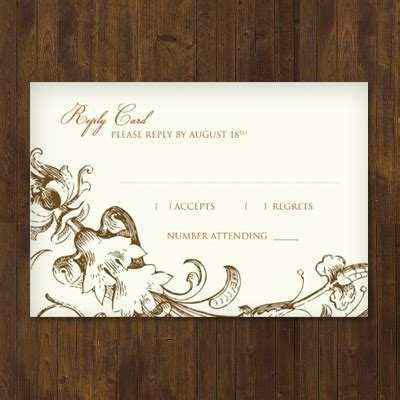Templates Of Rsvp Cards For Wedding by Fall Harvest Wedding Rsvp Template Print