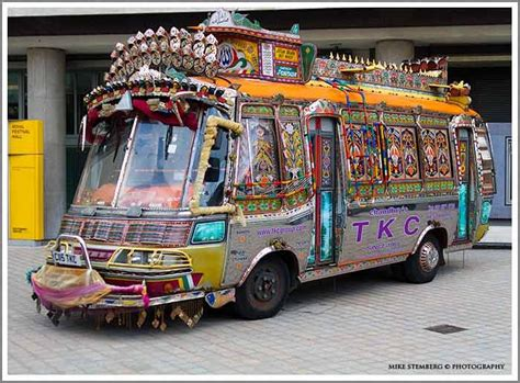 decorated indian bus