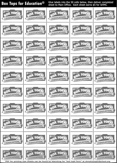 7 best images of 500 box tops printable for school free