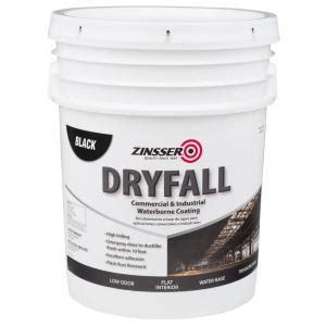 zinsser 5 gal waterbourne dryfall black coating 293233 the home depot