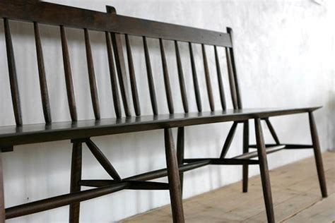 black wooden bench with back 10 easy pieces best wooden spindle benches remodelista