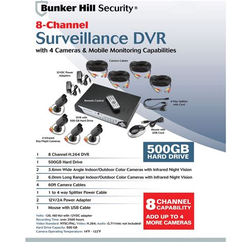 bunker hill security h 264 dvr security system manual