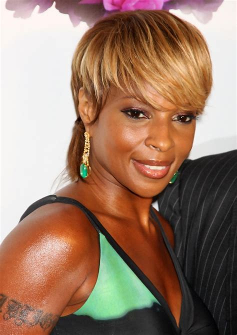 mary j blige flipped hair more pics of mary j blige short straight cut 3 of 6