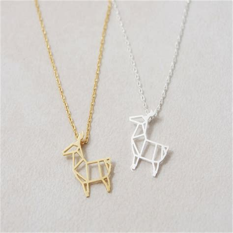 Selling Origami - selling alpaca necklace origami deer necklace trendy