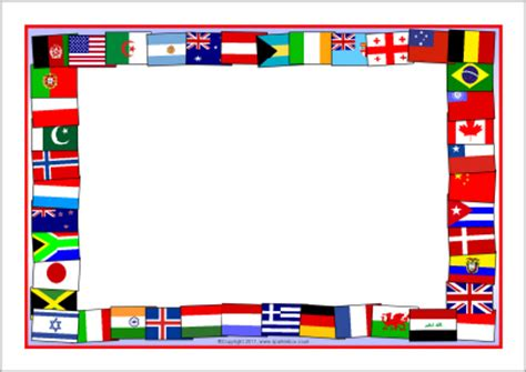 printable american flag a4 flags of the world a4 page borders sb5827 sparklebox