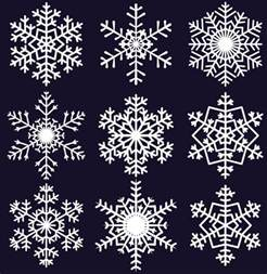 snowflake pattern templates different snowflake pattern mix vector graphics 04