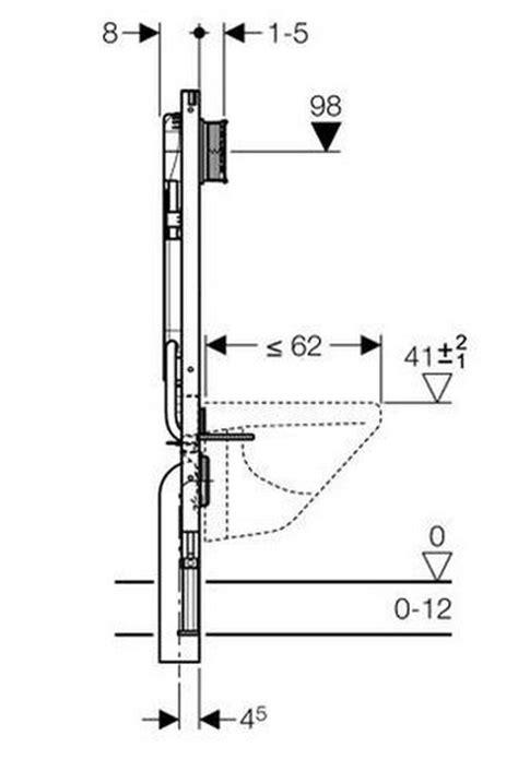 Afmeting Toilet Afvoer by Hangtoilet Plaatsen Met Niet Verplaatsbare Afvoer