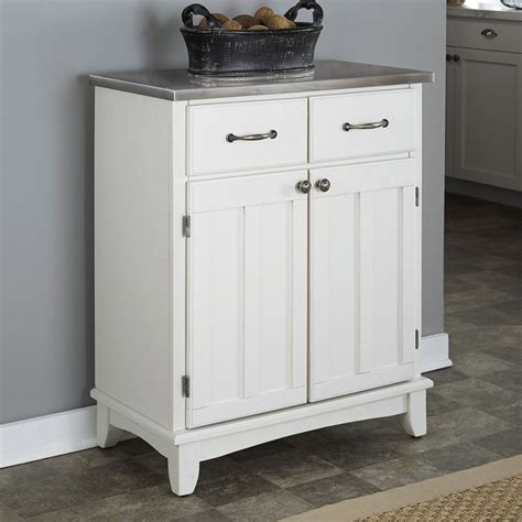 shop home styles white stainless buffet at lowes com