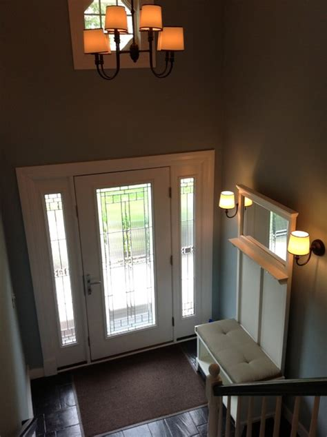 split level entryway light rest of house fixtures severna park split foyer renovation transitional entry