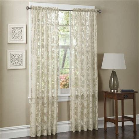 discount sheer curtain panels cheap maytex mills pamela window curtain 54 by 84 inch