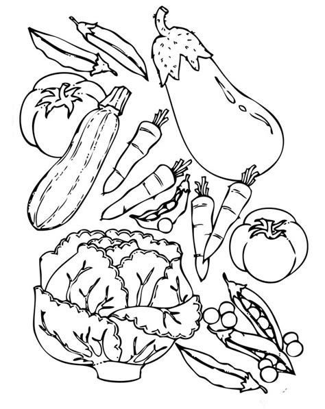 printable coloring sheets vegetables vegetable color pages az coloring pages