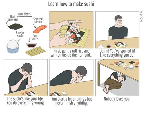 How To Make A Meme Comic With Your Own Picture - english translated quot how to make sushi quot comic how to make