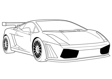 Printable Lamborghini Coloring Pages free printable lamborghini coloring pages for