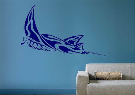 Full Size Wall Stickers manta ray tribal tattoo wild life wall stickers adhesive