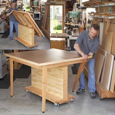 dead flat assembly table woodworking plan