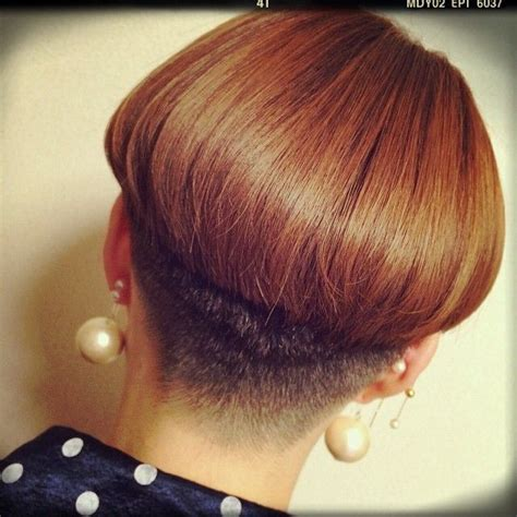 bowl haircuts shaved nape 1000 images about very short haircuts on pinterest bowl