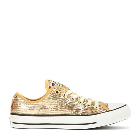sequin sneakers lyst converse chuck all sequin sneakers in