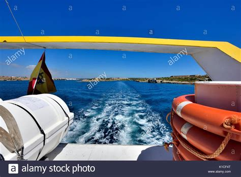 glass bottom boat menorca mahon a glass bottom boat stock photos a glass bottom boat