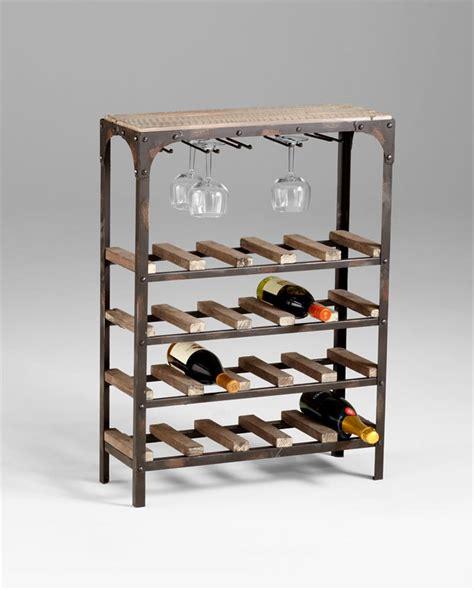rustic wine rack gallatin industrial rustic wood narrow console wine rack