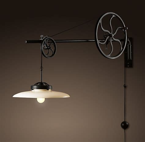 Pulley Light Fixture by L From Pulley Light Fixtures