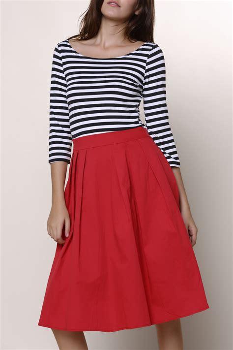 3 4 Sleeve Striped A Line Dress graceful neck 3 4 sleeve striped a line dress for