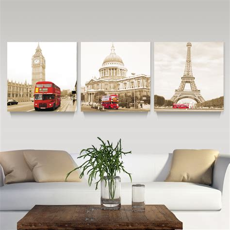 home decor london aliexpress com buy 3 panel modern printed london