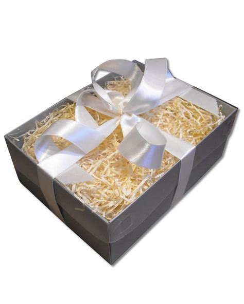 clear wrap for gifts gift wrap gift box clear lid silver