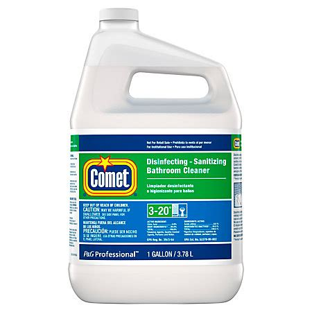 comet non abrasive bathroom cleaner comet bathroom cleaner 1 gallon refill by office depot