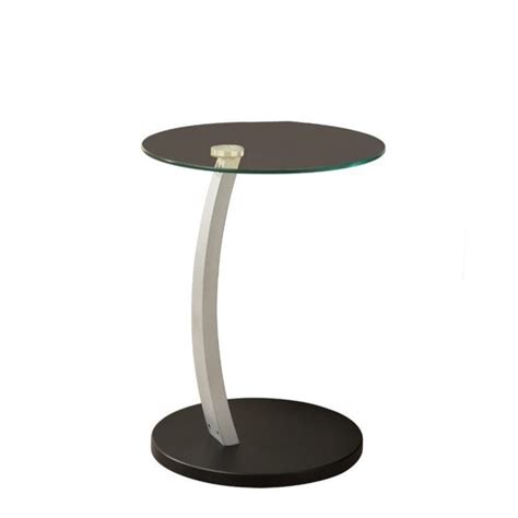 glass top accent tables bentwood accent table with tempered glass top in black and