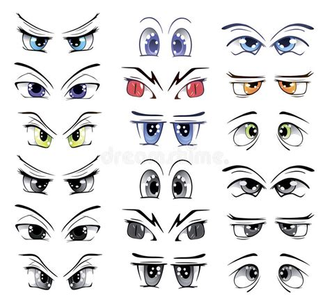 printable baby eyes the complete set of the drawn eyes stock vector image