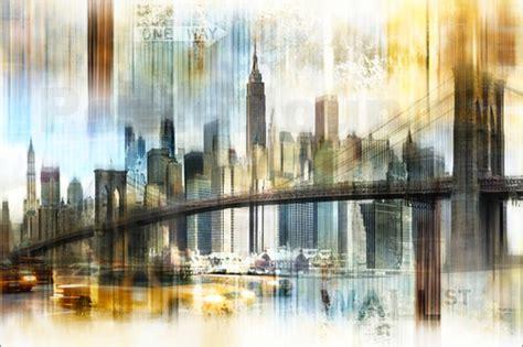New York City Wall Murals skyline new york abstrakt fraktal poster von nettesart